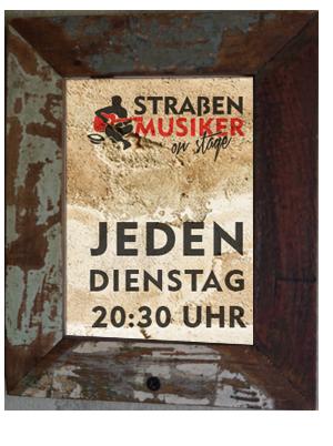 Straßenmusiker on stage - Jeden Dienstag 20:30 Uhr im Elsterartig